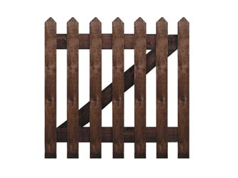 Brown Treated Pointed Palisade Picket Garden Gates