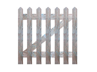 Natural Treated Pointed Palisade Picket Garden Gates