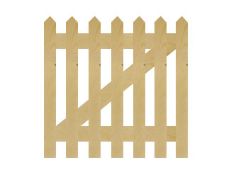 PAR Pointed Palisade Picket Garden Gates