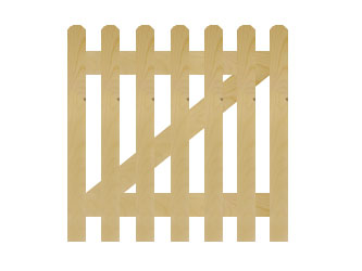 PAR Rounded Palisade Picket Garden Gates