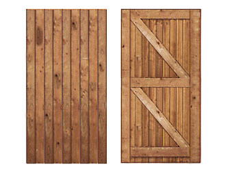 Brown Treated Featheredged Frame Ledged & Braced Side Garden Gates