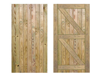 Natural Treated Featheredged Frame Ledged & Braced Side Garden Gates