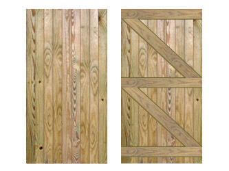 Natural Treated Featheredged Ledged & Braced Side Garden Gates