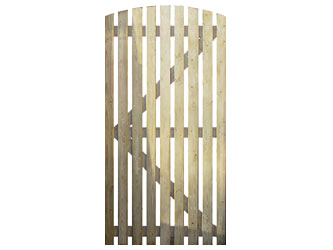 Natural Treated Orchard Side Garden Gates
