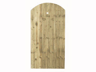 Natural Treated Super Featheredge Round Top Side Garden Gates