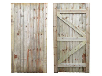 Natural Treated Universal Closeboarded Frame Ledged & Braced Side Garden Gates