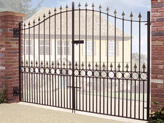 Balmoral Tall Wrought Iron Double Entrance Gates