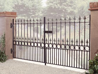 Balmoral Wrought Iron Double Entrance Gates