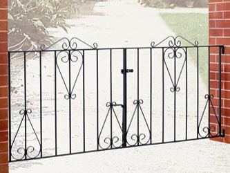 Classic Wrought Iron Double Entrance Gates