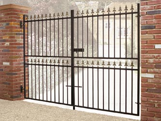 Corfe Tall Wrought Iron Double Entrance Gates