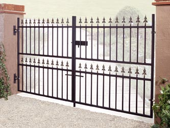 Corfe Wrought Iron Double Entrance Gates