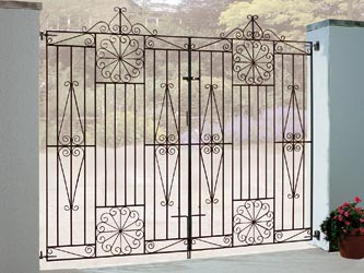 Edinburgh Tall Wrought Iron Double Entrance Gates