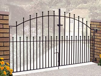 Manor Wrought Iron Double Entrance Gates