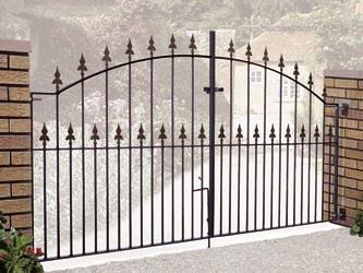 Saxon Wrought Iron Double Entrance Gates