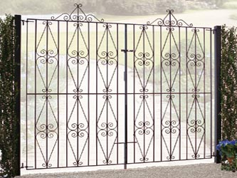 Stirling Tall Wrought Iron Double Entrance Gates