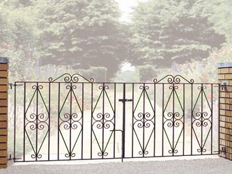 Stirling Wrought Iron Double Entrance Gates