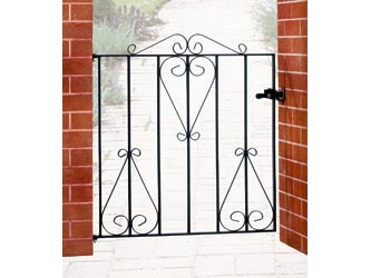 Classic Wrought Iron Front Garden Gates