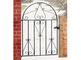 Classic Bow Top Wrought Iron Front Garden Gates