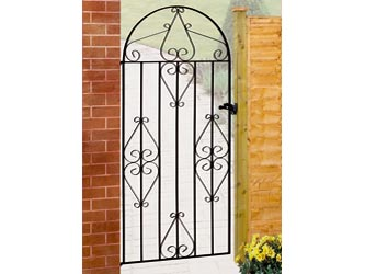 Classic Bow Top Wrought Iron Side Garden Gates