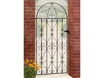 Regent Bow Top Wrought Iron Side Garden Gates