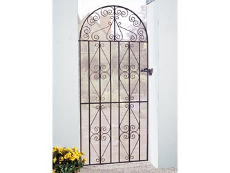 Stirling Bow Top Wrought Iron Side Garden Gates