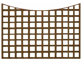 Brown Treated Concave Heavy Duty Standard 4in Garden Trellis Panels
