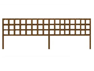Brown Treated Long Batten Straight Heavy Duty Standard 4in Garden Trellis Panels