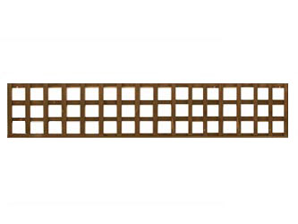 Brown Treated Long Straight Heavy Duty Standard 4in Garden Trellis Panels
