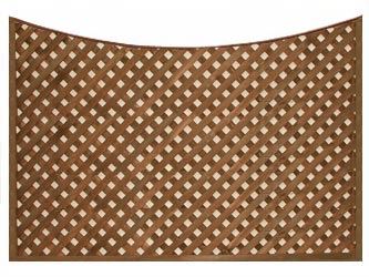 Brown Treated Concave Heavy Duty Diamond 1 1/4in Garden Trellis Panels