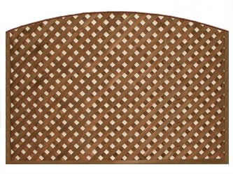 Brown Treated Convex Heavy Duty Diamond 1 1/4in Garden Trellis Panels