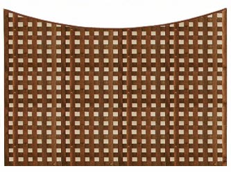 Brown Treated Concave Heavy Duty Chelsea 1 1/4in Garden Trellis Panels