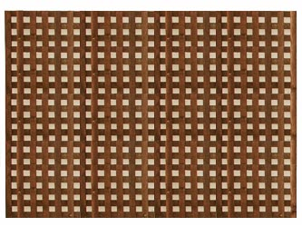 brown treated straight heavy duty chelsea 1 1 4 garden trellis panels