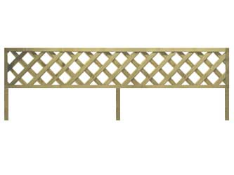 Natural Treated Long Batten Straight Heavy Duty Diamond 4in Garden Trellis Panels