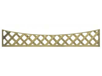 Natural Treated Long Concave Heavy Duty Diamond 4in Garden Trellis Panels