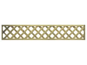Natural Treated Long Straight Heavy Duty Diamond 4in Garden Trellis Panels