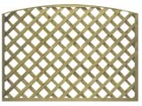 Natural Treated Convex Heavy Duty Diamond 4in Garden Trellis Panels