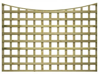 Natural Treated Concave Heavy Duty Standard 4in Garden Trellis Panels