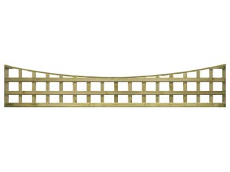 Natural Treated Long Concave Heavy Duty Standard 4in Garden Trellis Panels