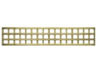 Natural Treated Long Straight Heavy Duty Standard 4in Garden Trellis Panels