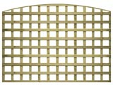 Natural Treated Convex Heavy Duty Standard 4in Garden Trellis Panels