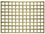 Natural Treated Straight Heavy Duty Standard 4in Garden Trellis Panels