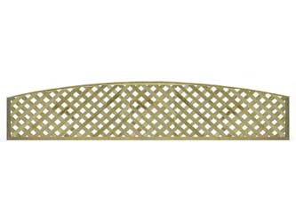 Natural Treated Long Convex Heavy Duty Diamond 1 1/4in Garden Trellis Panels