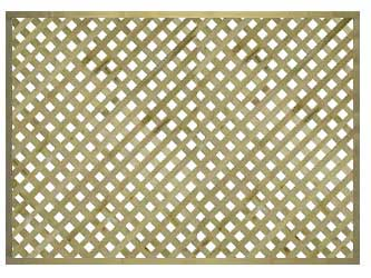 Natural Treated Straight Heavy Duty Diamond 1 1/4in Garden Trellis Panels