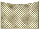 Natural Treated Concave Heavy Duty Diamond 1 1/4in Garden Trellis Panels