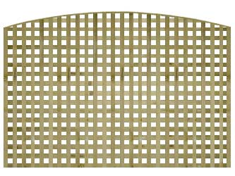 Natural Treated Convex Heavy Duty Chelsea 1 1/4in Garden Trellis Panels