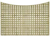 Natural Treated Concave Heavy Duty Chelsea 1 1/4in Garden Trellis Panels