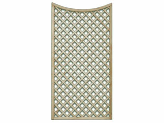 1524mm x 900mm Natural Treated Concave Standard Diamond Garden Trellis Panels