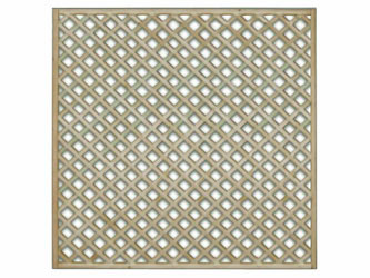 1828mm x 1828mm Natural Treated Straight Standard Diamond Garden Trellis Panels