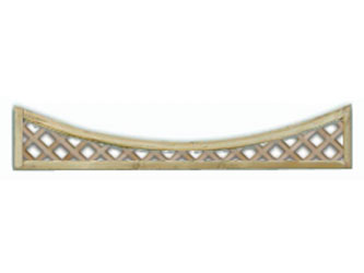 300mm x 1828mm Natural Treated Concave Standard Diamond Garden Trellis Panels