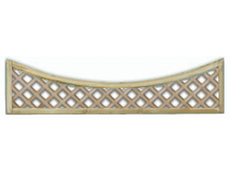 450mm x 1828mm Natural Treated Concave Standard Diamond Garden Trellis Panels